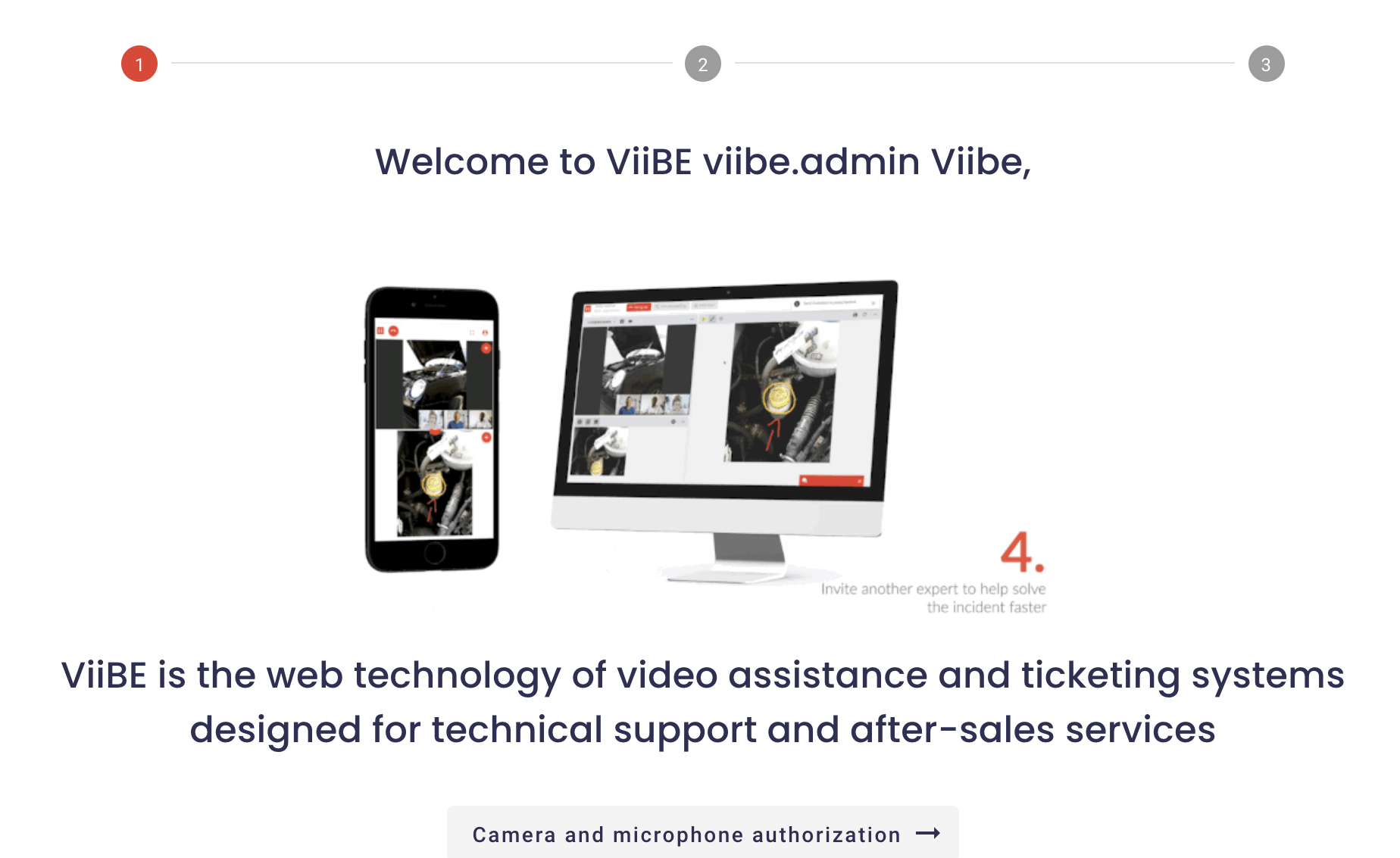 Welcome to ViiBE first time login