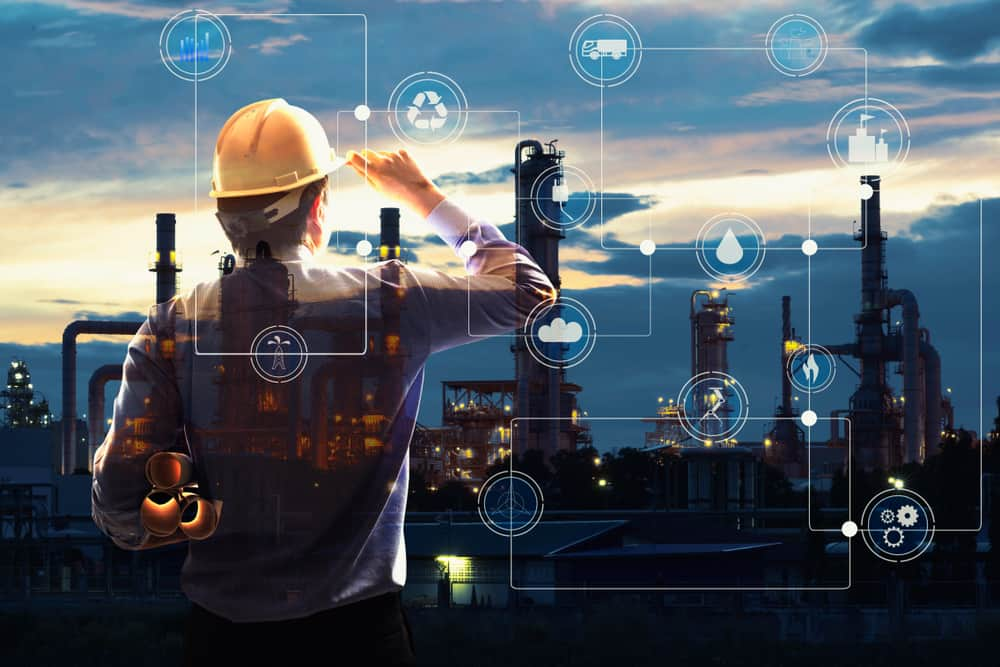 engineer looking at the oil and gas value chain