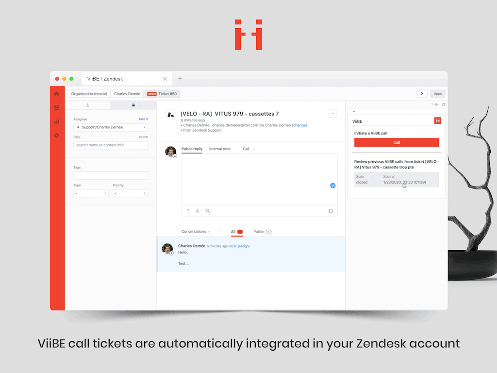 ViiBE integration detailed in Zendesk Startup Central interview